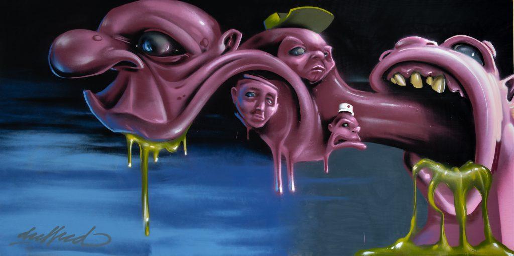 StreetArt Veiling: Kunstenaar: Deeffeed